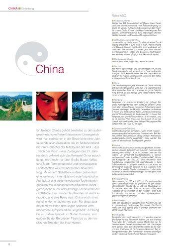 China - EAST ASIA TOURS GmbH