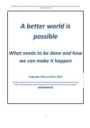 A better world is possible - Bruce Nixon, Sustainability Consultant
