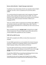 English language requirements To qualify for a Tier 4 Visa to study ...