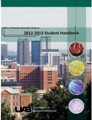 GBS Student Handbook - University of Alabama at Birmingham