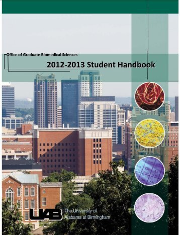 GBS Student Handbook - University of Alabama at Birmingham