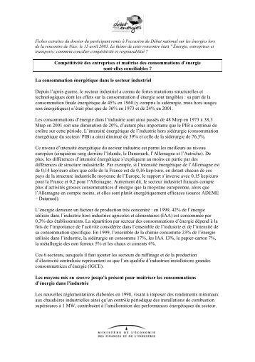 Débat-national-sur-les-énergies : Compétitivité des ... - Vie publique