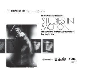 Study Guide - Theatre at UBC - University of British Columbia