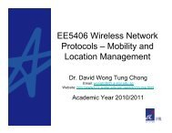 Mobility and Location Management - A*Star