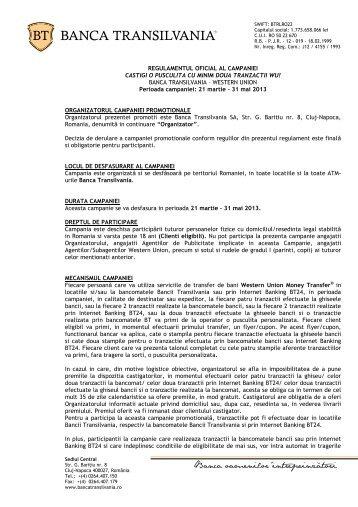 REGULAMENTUL OFICIAL AL CAMPANIEI CASTIGI O PUSCULITA ...