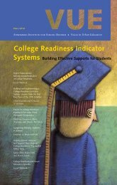 College Readiness Indicator - Annenberg Institute for School Reform