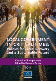 local government in critical times - Council of European ...
