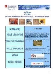 Secteur : Matériaux de Construction, Céramique ... - Tunisie industrie