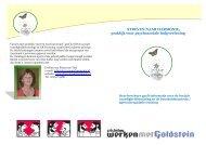 Folder SOVA en ART training vanuit de Goldsteinmethode