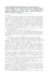 testo del decreto legge 3 ottobre 2006, n. 262 - RNTTA