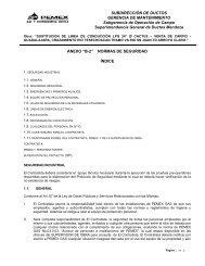 subdirección de ductos - Pemex Gas y Petroquímica Básica