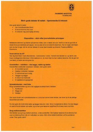 Skriv gode tekster til nettet - hjemmeside & intranet