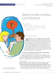 What to Do With a Positive Lyme Test Result
