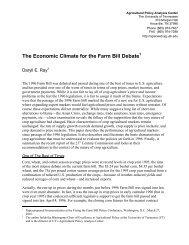 Economic Climate for the Farm Bill Debate - Fixing the Farm Bill