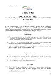 Etický kodex - ROP Severozápad