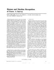 Human and machine recognition of faces: a survey ... - Wang