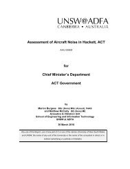 Assessment of Aircraft Noise in Hackett, ACT - ACT Government