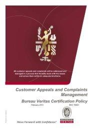 customer complaint management policy - Bureau Veritas
