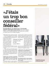 «J'étais un trop bon conseiller fédéral» - Christoph Blocher