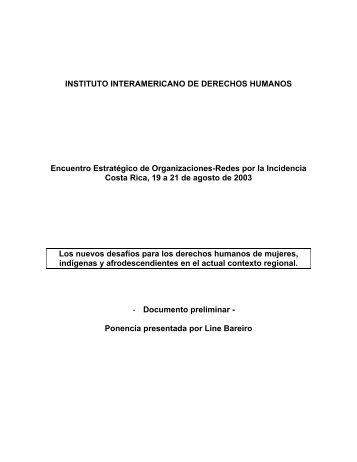 INSTITUTO INTERAMERICANO DE DERECHOS HUMANOS ... - IIDH