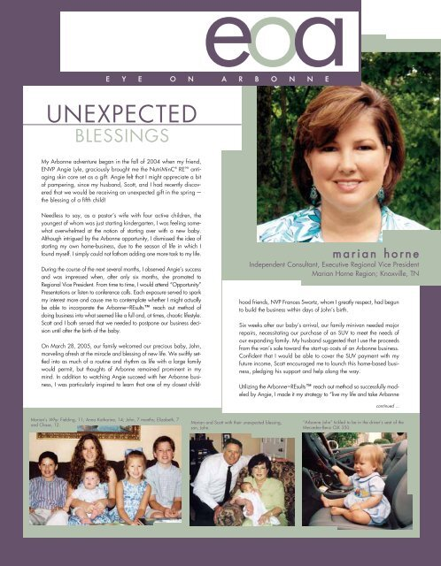unexpected blessing - Arbonne