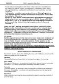 instructions for installation, use and maintenance rais riva - Robeys Ltd - Page 7