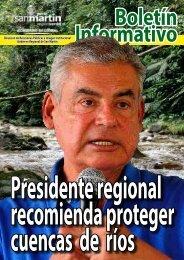 Presidente Regional recomienda proteger cuencas de ríos.