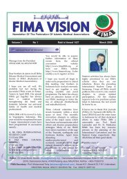 FIMA Vision March 2006 - Federation of Islamic Medical Associations