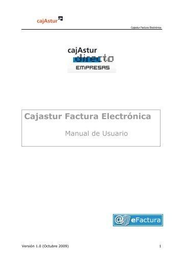 Manual operativo Cajastur Factura Electrónica
