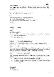 Loi fédérale du 4 octobre 2002 sur la protection de ... - Ville de Genève