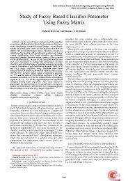 Study of Fuzzy Based Classifier Parameter Using Fuzzy Matrix
