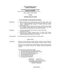 Keputusan Ketua MA No KMA/104A/SK/XII/2006