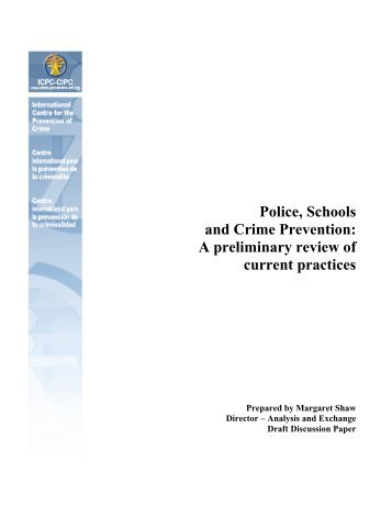 Police, Schools and Crime Prevention: - IIDH