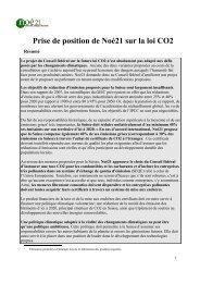 Prise de position de Noé21 sur la loi CO2
