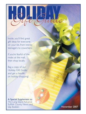 Gift Guide 2007 template - Islip Bulletin