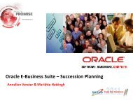 Oracle E-Business Suite – Succession Planning - South African ...