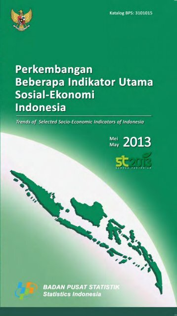Indikator Sosial Ekonomi Mei 2013 - Badan Pusat Statistik