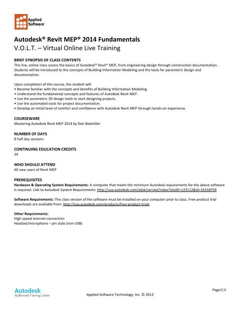 download pdf version - Applied Software