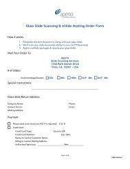 Glass Slide Scanning & eSlide Hosting Order Form - Aperio