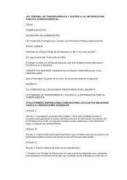 LEY Federal de Transparencia y Acceso a la Información Pública ...