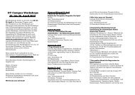 DT Campus Workshops 20. bis 30. April 2012 - Deutsches Theater