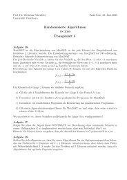 Randomisierte Algorithmen SS 2009 ¨Ubungsblatt 5