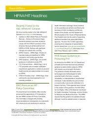 HIPAA/HIT Headlines - Vinson & Elkins LLP