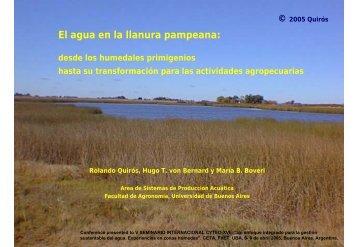 El agua en la llanura pampeana: - Facultad de Agronomía ...