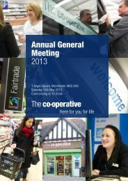 Annual General Meeting 2013 - The Co-operative