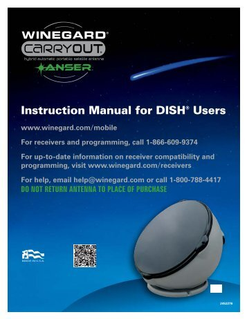 Instruction Manual for DISH® Users - Winegard