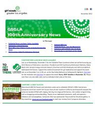 November 2012 - Girl Scouts of Greater Los Angeles