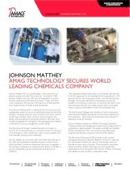 Johnson Matthey - AMAG