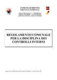 regolamento comunale per la disciplina dei controlli interni