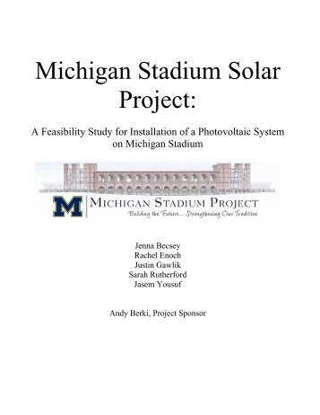 2009report-solarstad.. - Graham Sustainability Institute - University ...
